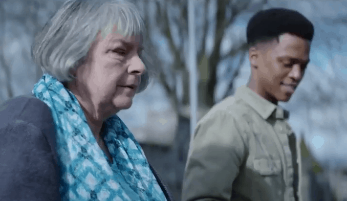 Couple walking in a still from a TV advertisement campaign called Great Things Happen
