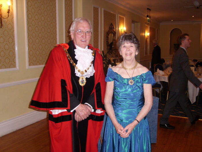 Meryl and Derek Bedford attend a ball at Ross-on-Wye